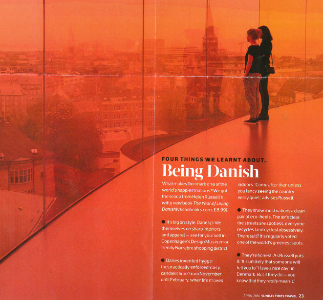 Being Danish - Sunday Times Travel Hotlist 13th March 2016