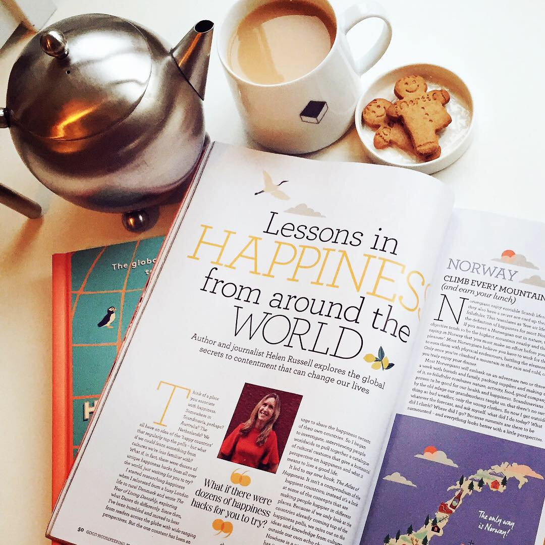 Lessons in happiness from around the world by Helen Russell in Good Housekeeping UK January 2019 issue