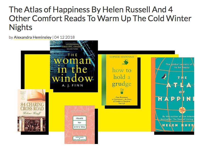 The Atlas of Happiness top book pick Grazia UK