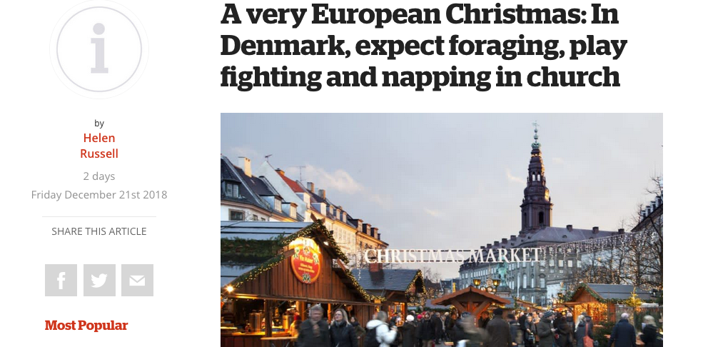 A very Eurpoean Christmas in Denmark by Helen Russell