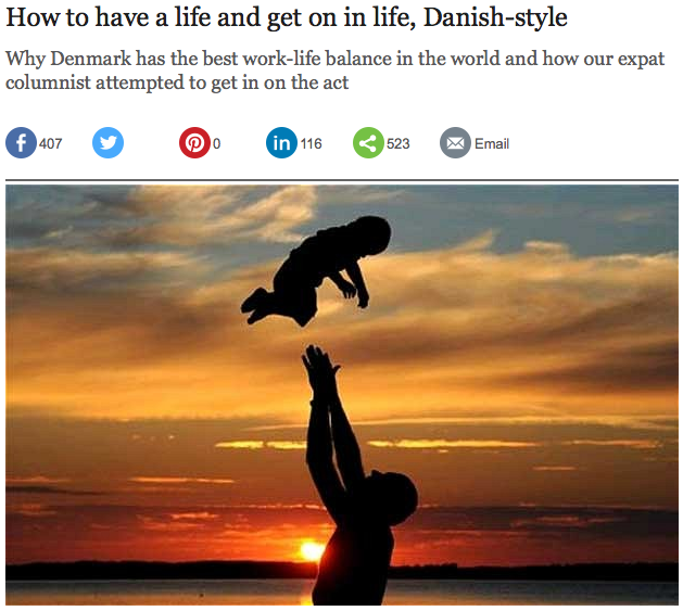 How to have a life and get on in life, Danish-style - The Telegraph Helen Russell