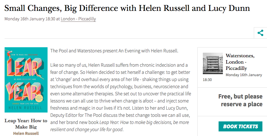Small Changes, Big Difference with Helen Russell and Lucy Dunn