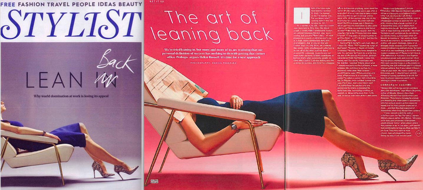 The Art of Leaning Back - Leap Year in Stylist magazine