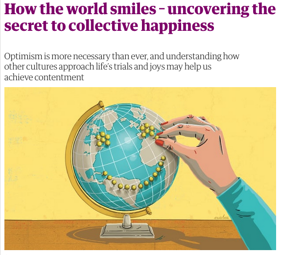 How the world smiles by Helen Russell in the Observer 28th October 2018
