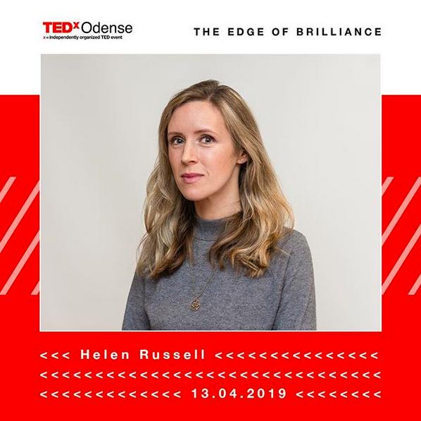Helen Russell speaker at TEDx Odense 2019
