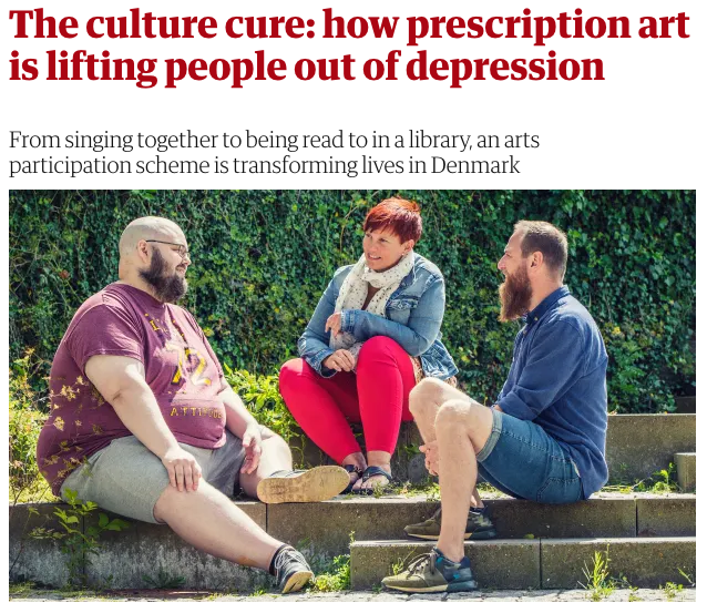 The culture cure: how prescription art is lifting people out of depression by Helen Russell in The Guardian