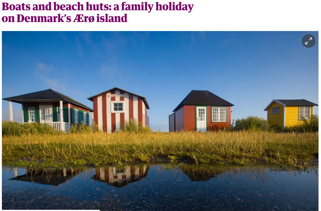 Boats and beach huts: a family holiday on Denmark's Ærø island by Helen Russell in The Guardian